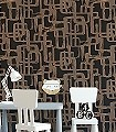 Kahil,-col.06-Schemen/Silhouetten-Moderne-Muster-Gold-Schwarz