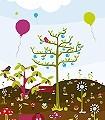 Kakao-&-Liebe-Landschaft-KinderTapeten-Multicolor