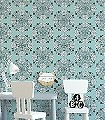 Kaleidoscope,-col.04-Ornamente-Blätter-Moderne-Muster-Schwarz-Weiß-mint