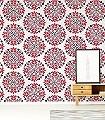 Kaleidoscope,-col.06-Ornamente-Blätter-Moderne-Muster-Schwarz-Weiß-Pink