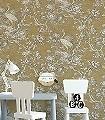 Karin,-col.03-Blätter-Vögel-Stoff-Äste-Florale-Muster-Gold-Anthrazit-Creme