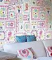 Karolin-Stickerei-Moderne-Muster-Weiß-Multicolor