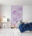 Katzenjammer-Tiere-Zeichnungen-KinderTapeten-Lila-Rosa-Flieder