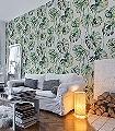 Kelapa,-col.-3-Blätter-Florale-Muster-Grün-Weiß