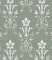 Kent,-col.23-Ornamente-Klassische-Muster-Jugendstil-Grün-Creme