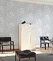 Kinabalu,-col.-7-Tiere-Blätter-Fauna-Florale-Muster-Silber-Grau-Weiß