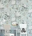King-Protea,-col.-5-Blumen-Blätter-Florale-Muster-Grau-Weiß-Hellblau