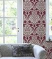 Konradine,-col.-01-Rauten-Klassische-Muster-Textil-&-NaturTapeten-Creme-weinrot