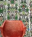 L'Afrique-Tiere-Blätter-Figuren-Formen-Moderne-Muster-Weiß-Multicolor