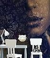 Lace,-col.12-Gesichter-Spitze-FotoTapeten-Braun-Schwarz-Weiß-Ocker