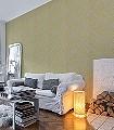 Lacrecia-Acacia-Ornamente-Blumen-Klassische-Muster-Gelb-Creme