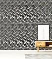 Lacrecia-Moon-Ornamente-Blumen-Klassische-Muster-Barock-Grau-Schwarz-Creme