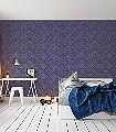 Lacrecia-Purple-Ornamente-Blumen-Klassische-Muster-Lila-Anthrazit-petrol