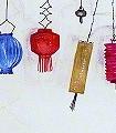Lantern-Party,-col.01-Lampe-Großmotiv-FotoTapeten-Weiß-Multicolor