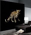 Leopard,-col.36-Tiere-FotoTapeten-Schwarz-Ocker