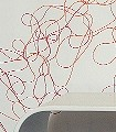 Lesley-Print-Bögen-Linie-Moderne-Muster-Rot-Orange-Weiß