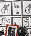 Liborius,-col.01-Tiere-Bilderrahmen-Moderne-Muster-Schwarz-Weiß-Multicolor
