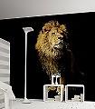 Lion,-col.37-Tiere-FotoTapeten-Schwarz-Ocker