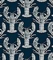 Lobster,-dark-blue-Tiere-Fauna-Blau-Weiß