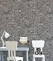Louam-Cinder-Bäume-Figuren-Gebäude-Florale-Muster-Grau-Anthrazit-Weiß