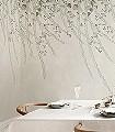 Lush-Foliage,-Sage-Tint-Blumen-Blätter-Ranken-Florale-Muster-FotoTapeten-Hellgrün-Creme-Hellblau