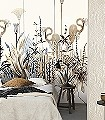Lush-Taupe,-col.-01-Blumen-Tiere-Landschaft-Blätter-Vögel-Fauna-Florale-Muster-Moderne-Muster-FotoTapeten-Braun-Anthrazit-Creme-Hellbraun