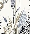 Lush-Taupe,-col.-02-Blumen-Tiere-Landschaft-Blätter-Vögel-Fauna-Florale-Muster-Moderne-Muster-FotoTapeten-Braun-Anthrazit-Creme-Hellbraun