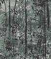 Lust-Bäume-Florale-Muster-FotoTapeten-Grün-Grau-Anthrazit-Creme