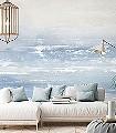 MALINDI-DREAM,-BLUE-Strand-Moderne-Muster-FotoTapeten-Creme-Hellblau