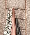 MALLOW-DUSKY-ROSE-Blätter-Früchte-Florale-Muster-Rosa-Creme