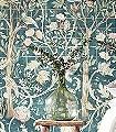 MELSETTER-INDIGO-ROSE-Blumen-Tiere-Bäume-Blätter-Vögel-Früchte-Fauna-Florale-Muster-Multicolor