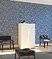MILDRED-AMPARO-Blumen-Blätter-Art-Deco-Blau-Gold