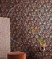 MILDRED-SIERRA-Blumen-Blätter-Art-Deco-Rot-Gold-Schwarz