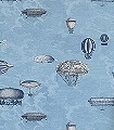 Macchine-Volanti,-col.-21-Wolken-Flugzeuge-Ballons-Moderne-Muster-Rot-Blau-Silber