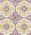 Mandala-Kachel-Orientalisch-Rot-Grau-Gelb-Weiß