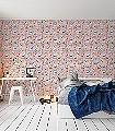Marceline-Vögel-Bilderrahmen-Fauna-Rosa-Multicolor