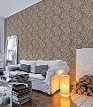 Marigold-Chocolate/Cream-Blumen-Blätter-Klassische-Muster-Florale-Muster-Braun-Creme