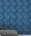 Marigold-Navy-Blumen-Blätter-Klassische-Muster-Florale-Muster-Blau-Schwarz