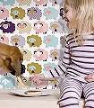 Marketa,-col.01-Tiere-Fauna-KinderTapeten-Lila-Rosa-Olive-Weiß-Flieder-Hellblau