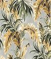 Masako,-col.-2-Blätter-Florale-Muster-Grün-Grau-Anthrazit-Creme-Ocker