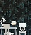 Mask-Jungle-Gesichter-Moderne-Muster-Grün-Schwarz