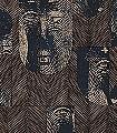 Mask-Slate-Gesichter-Moderne-Muster-Blau-Gold-Braun-Schwarz