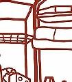 Meine-kleine-Wohnküche,-Kühlschrank-KinderTapeten-Rot