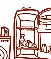 Meine-kleine-Wohnküche,-Komplett-Motiv-KinderTapeten-Rot