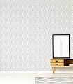 Melker-Dreiecke-Grafische-Muster-Grau-Weiß