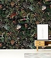 Menagerie-of-Extinct-Animals,-col.-1-Blumen-Tiere-Blätter-Vögel-Äste-Klassische-Muster-Fauna-Florale-Muster-Multicolor