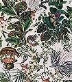 Menagerie-of-Extinct-Animals,-col.-2-Blumen-Tiere-Blätter-Vögel-Äste-Klassische-Muster-Fauna-Florale-Muster-Multicolor