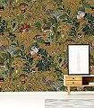 Menagerie-of-Extinct-Animals,-col.-4-Blumen-Tiere-Blätter-Vögel-Äste-Klassische-Muster-Fauna-Florale-Muster-Multicolor