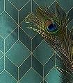 Metro,-col.-07-Graphisch-Grafische-Muster-Art-Deco-Grün-Gold