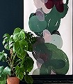 Meva-Punkte-Formen-Florale-Muster-Grün-Grau-Rosa-Weiß